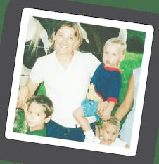 Michelle and children